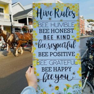 Hive Rules Wall Art